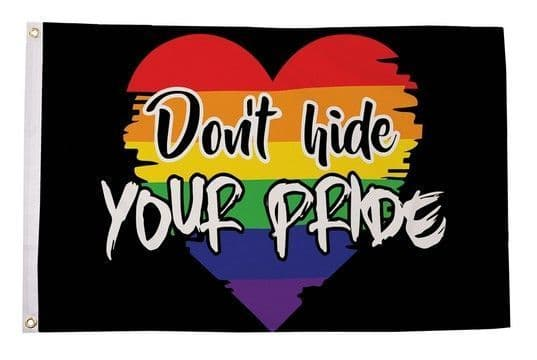 Dont Hide Your Pride Flag